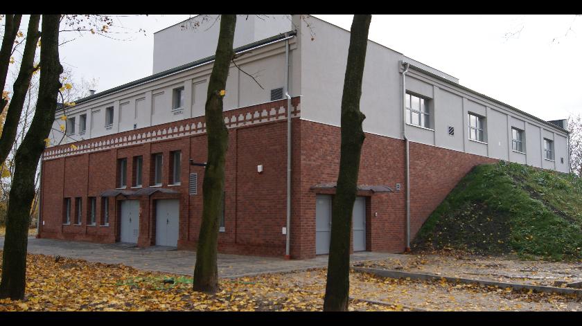 Zdjęcie przedstawia budynek Stacji uzdatniania wody Nr 2